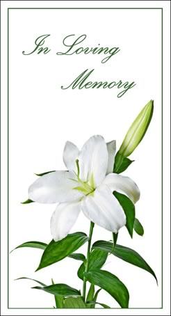 In Memoriam Card